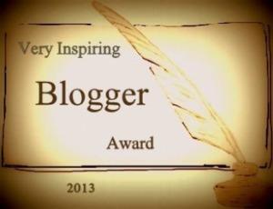 very inspiring blogger award 2013