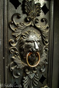 A lion door handle/knocker in New Orleans.